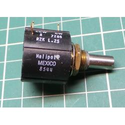 Potentiometer, multi turn, 2K, LIN