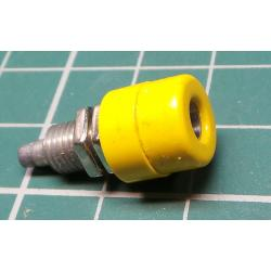 Banana Socket, 4mm, Yellow