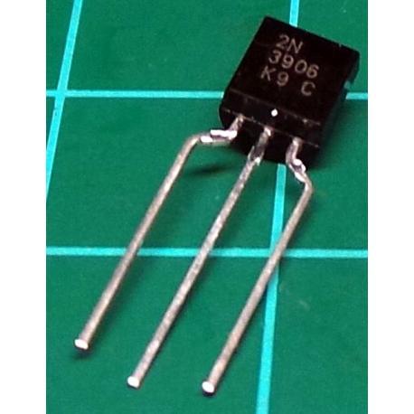 2N3906, PNP Transistor, 40V, 0.2A, 0.35W