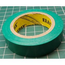 Insulating tape, 0.13 x 15mm x 10m, Green