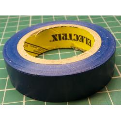 Insulating tape, 0.13 x 15mm x 10m, dark blue