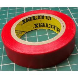 Insulating tape, 0.13 x 15mm x 10m, Red