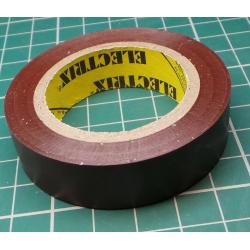 Insulating tape, 0.13 x 15mm x 10m, Brown