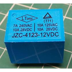 Relay, HLS-T72, 12V, 10A(24V), 7A(220VAC), 22x17x15mm