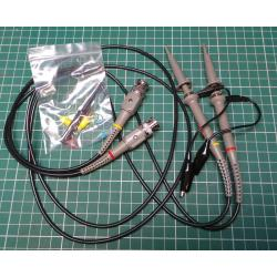 2 x Oscilloscope Probes, 100Mhz, 1x and 10x switch