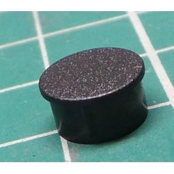 Cap, thermoplastic, push-in, black