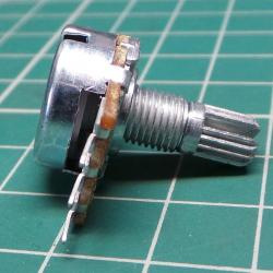 Potentiometer, 100K, Log, 6x7mm Knurled Shaft, PCB Pins