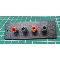 4x RCA socket on panel, (25x75mm)