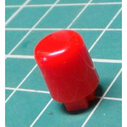 Button for microswitch, for 4x4mm mounts, Red