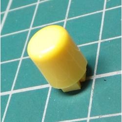 Button for microswitch, for 4x4mm mounts, yellow