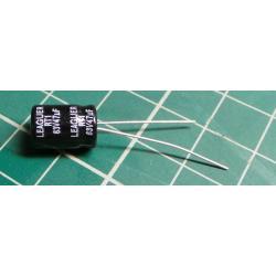 47U / 63V 105 ° 8x11x3,5mm, elektrolyt.kondenzátor radial