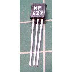 KF422 N RF 160V / 0.1A TO126 1.2W