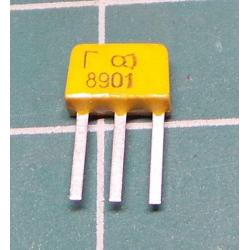 KT315G N UNI 35V/0,1A 0,15W (ß50-350), Fmax250MHz