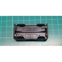 Battery holder. 4xAAA. solder tags