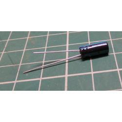 1u / 100V 105 degrees, 5x11x2mm, elektrolyt.kondenzátor radial