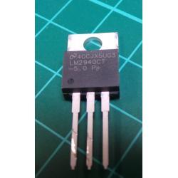 Voltage, LDO, non-adjustable, 5V, 1A, TO220, THT