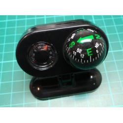 Retro Dashboard Compass and Thermometer