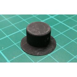 Knob, for 6mm shaft, 20 mm