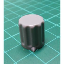 Knob, for 6mm shaft, Grey, Style 2