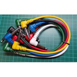 6 x 6.3mm Jack to 6.3mm Jack Patch Cables,