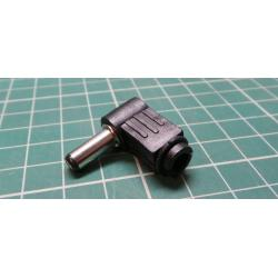 PSU R/A Plug, Female, 5.5mm / 2.5 mm, Cable Mount