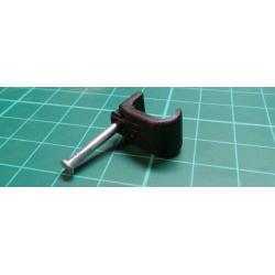 Cable Clips, 14x7 flat, For 4 & 6mm2 Flat Cable, Black