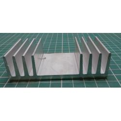 Heatsink, Alu, 90mm x 25mm x 40mm