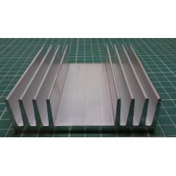 Heatsink, Alu, 90mm x 25mm x 100mm