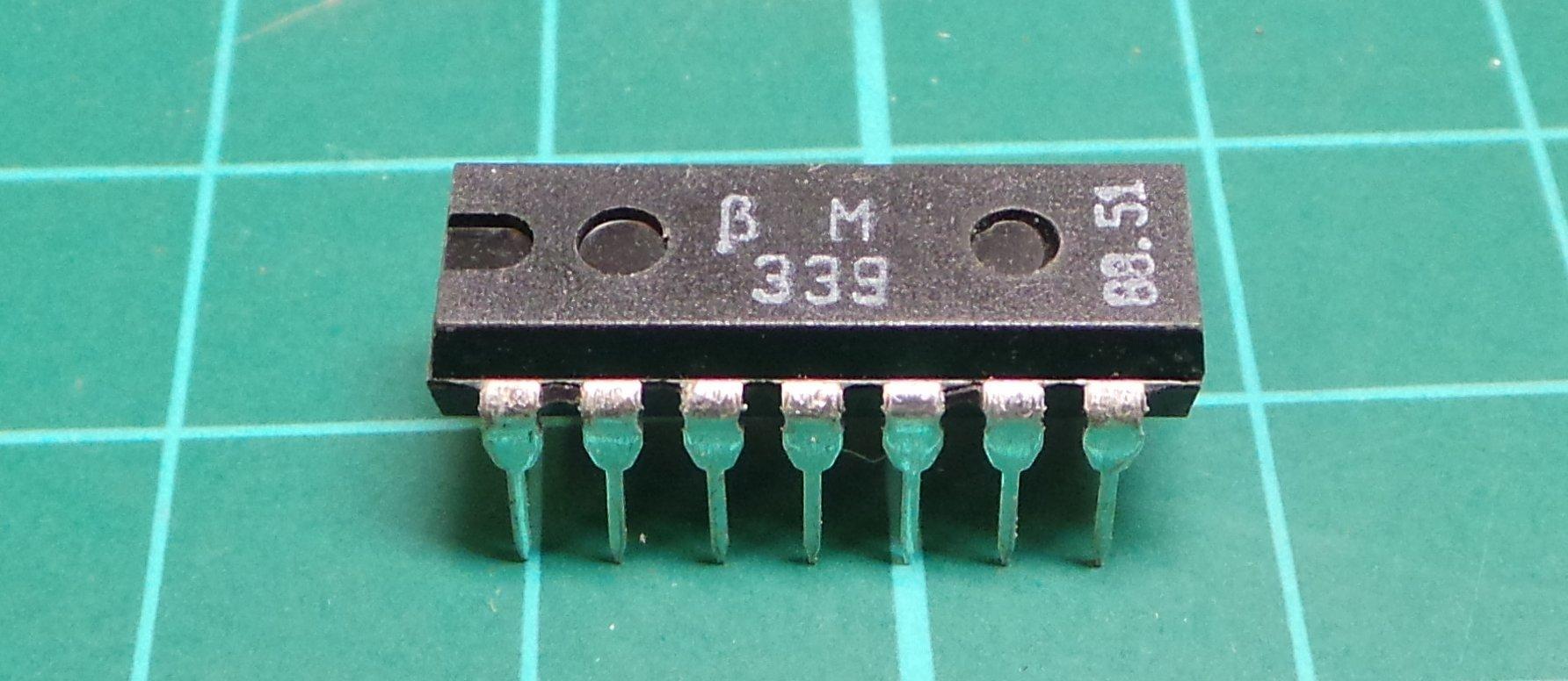 BM339 (LM339 Clone), quad Comparitor, DIP14