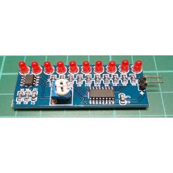NE555+CD4017, Flowing Light LED Module Kit