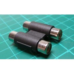 2xRCA Socket to 2xRCA Socket, Adaptor