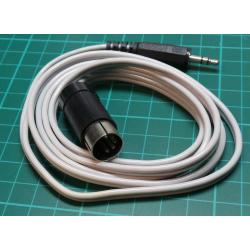 Cable DIN5 - Jack 3.5 stereo, 1.3 m