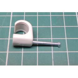 Nail in Clip, for 9mm round cable