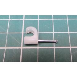 Nail in Clip, for 5mm round cable