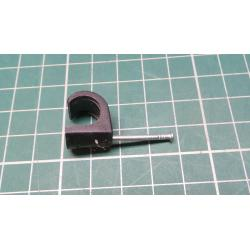 Nail in Clip, for 10mm round cable, black
