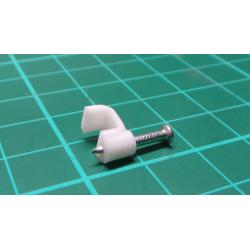 Nail in Clip, fo 6*3mm Flat Cable, 16mm Nail, White