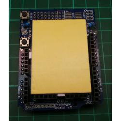 * New Photo - Showing Breadboard * Arduino UNO Prototyping Shield, With Mini Breadboard