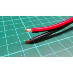 Wire, Paired, 2x1.5mm2, 16AWG, red and black