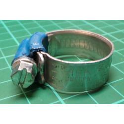 Hose Clamp, Diam 15-24mm, 12mm Width