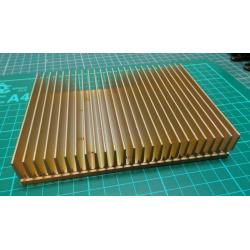 Heatsink, Brass?, 150x110x27mm