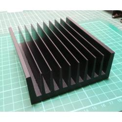 Heatsink, Black, 117x100x40mm