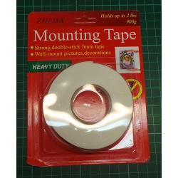 Mounting Tape, Double sided, 15mm x 1m, 900g Capacity