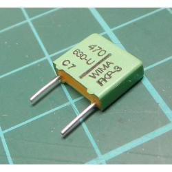 Capacitor, Film, 470pF, 630V