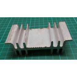 Heatsink, Rough Alu, 87x26x45 mm