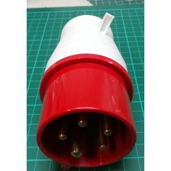 3 Phase Plug, 5-Pin, 220-380V (240-415V), 16A, IP44