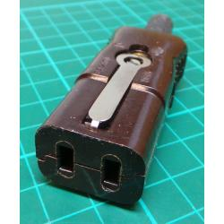 Mains Socket, 2-Pin, 250V, 6A