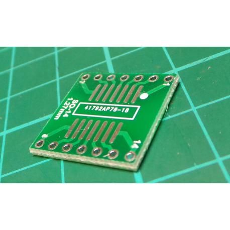 SO/SOP/SOIC/SSOP/TSSOP/MSOP 14 to DIP Adapter PCB Board Converter F03B