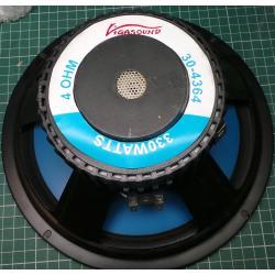 """PA Loudspeaker, 10"""", 330W (100W Real RMS), 4 Ohm"""