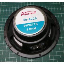 "Loudspeaker, 6,5"", 80W (20W Real RMS), 4 Ohm"
