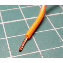 22AWG, 0.5 mm2, Stranded, Silicon, 180°, Orange